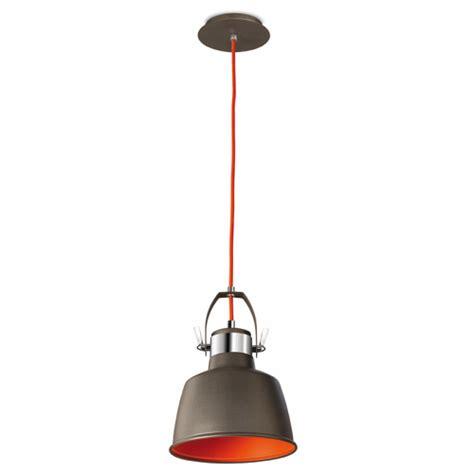 lx430 grey vintage metal pendant wall l with orange interior la creu 00 0240 21 z5