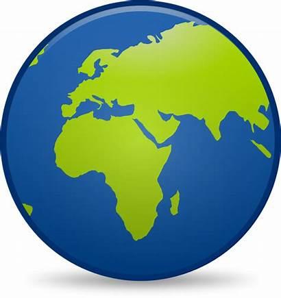 Globe Earth Clipart Clip Cartoon Icon Resolution