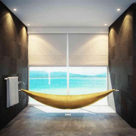 Hammock Tub by Vessel Gold Hammock Bathtub By Splinter Works Decoholic