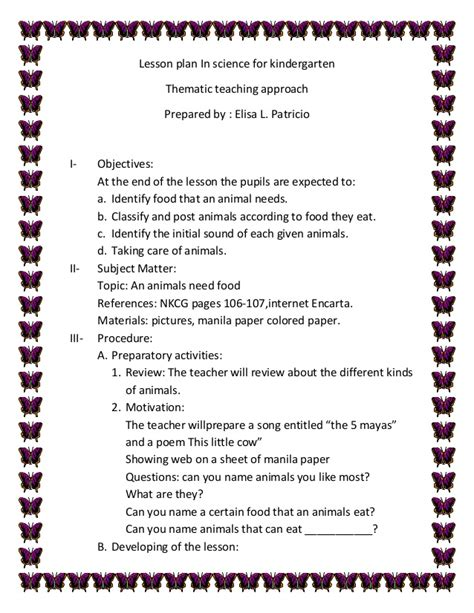 lesson plan in science for kindergarten patricio 721 | lesson plan in science for kindergarten patricio 1 638