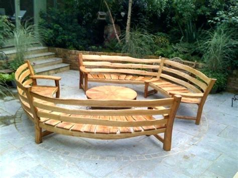 Curved Benches Indoor Bench Seating Outdoor Round Modern