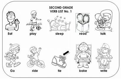 Coloring Action Verbs Pages Verb Worksheets Words