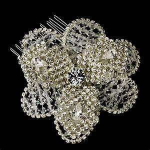 Stunning Crystal Rhinestone Bliss Flower Bridal Hair Comb
