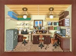 Wandbilder Fürs Büro : 3d wandbild b ro mit computer lasiert 30 x 22cm ~ Bigdaddyawards.com Haus und Dekorationen