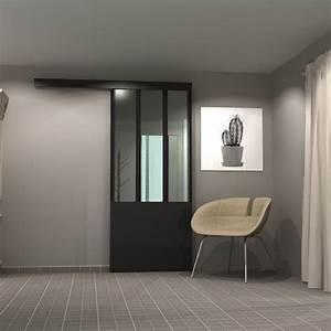 Porte De Placard Style Verriere : porte coulissante style verriere int rieure sur mesure sga ~ Nature-et-papiers.com Idées de Décoration
