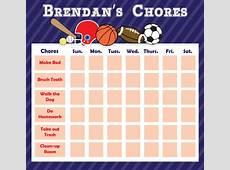 Coach Sports Chore Board Dry Erase Chore Board Chore