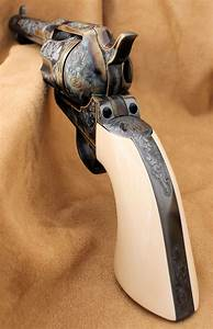 Engraved Us Firearms Colt Replica Single Action Army