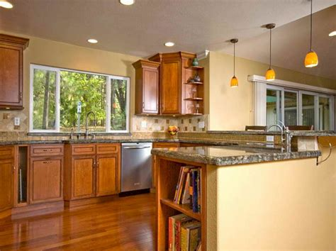 Color Ideas For Kitchen Walls With Wood Cabinet (color