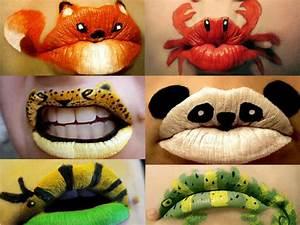 Karneval Schminken Tiere : lippen schminken party make up mit originellen mustern ~ Frokenaadalensverden.com Haus und Dekorationen