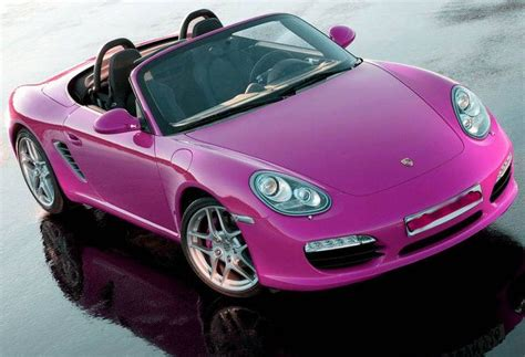 Cute Porsche Ll Drive A Pink Convertible Car