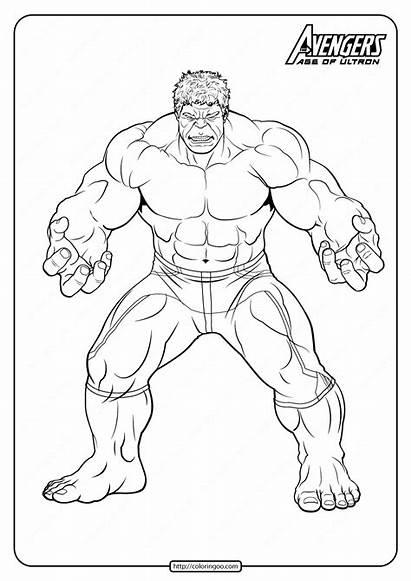 Marvel Coloring Hulk Avengers Pdf