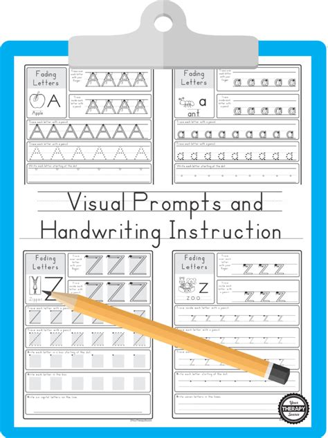 visual prompts  handwriting  therapy source