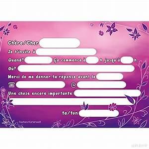 Invitation Anniversaire Fille 9 Ans : bien connu carte invitation anniversaire fille 9 ans ep97 ~ Melissatoandfro.com Idées de Décoration