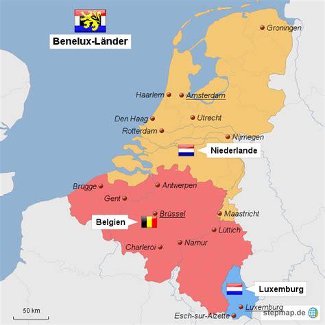 Sind Benelux Staaten by Stepmap Benelux L 228 Nder Landkarte F 252 R Deutschland