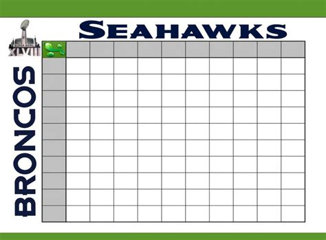 images  blank football squares template  customize