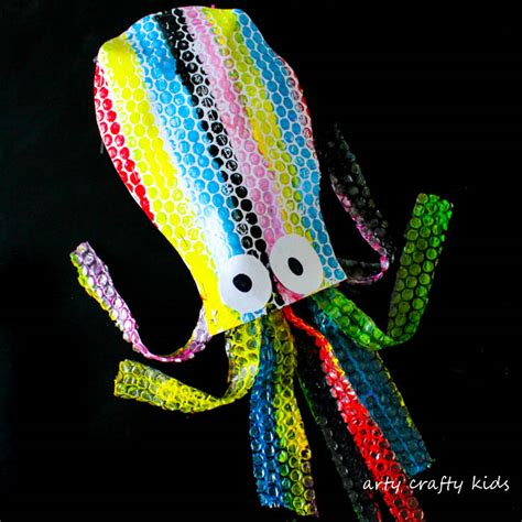 Puffy Bubble Wrap Octopus  Arty Crafty Kids