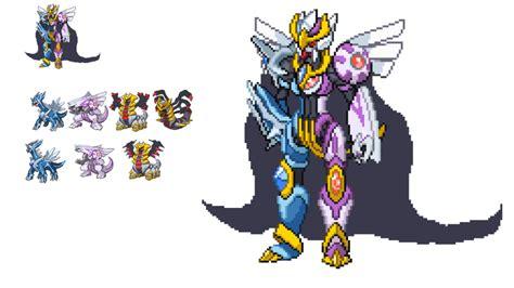 Creation Trio Pokemon Fusion Sprite ( Dialga + Palkia