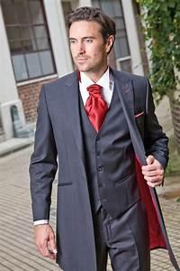 johann redingote de mariage avec gilet gris et rouge With robe de mariée rouge avec bague homme