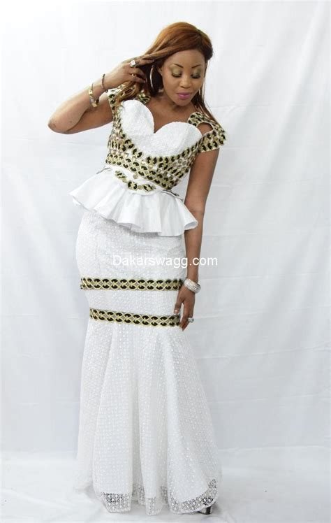 tendance tabaski  tenue en dentelle robe africaine