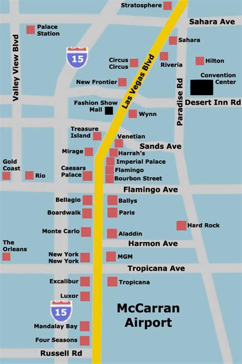 las vegas hotel map las vegas mappery