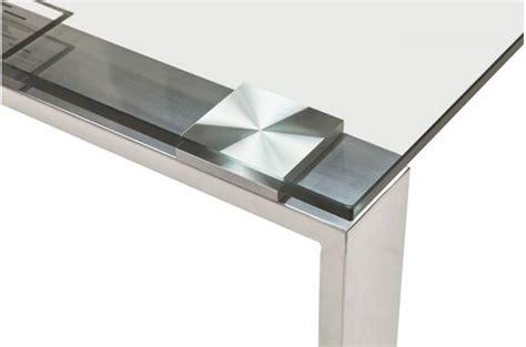 bureau verre metal bureau verre métal 80x160 volt design sur sofactory
