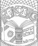 Library Elementary Coloring Journal Subject Adult Classroomdoodles sketch template