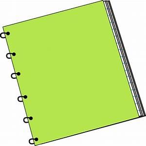 Green Spiral Notebook Clip Art - Green Spiral Notebook ...