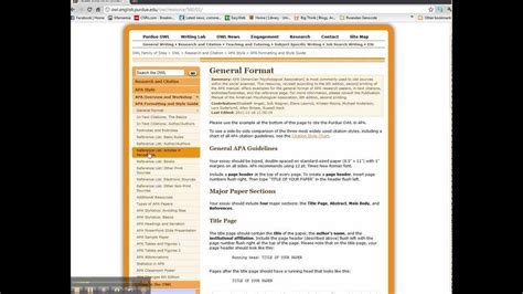 formatting owl  purdue webpage introductionmp youtube