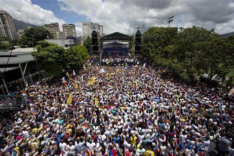 Thousands Protest In Venezuela's 'toma De