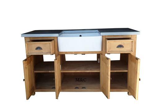 meuble sous evier de cuisine meuble sous evier bois massif 1 grand meuble evier de