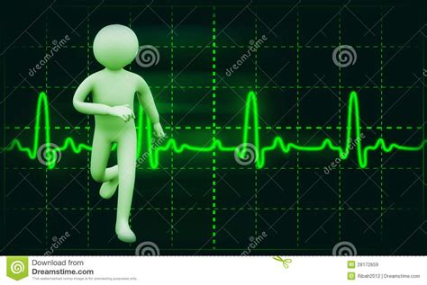 healthy person ecg background royalty  stock images