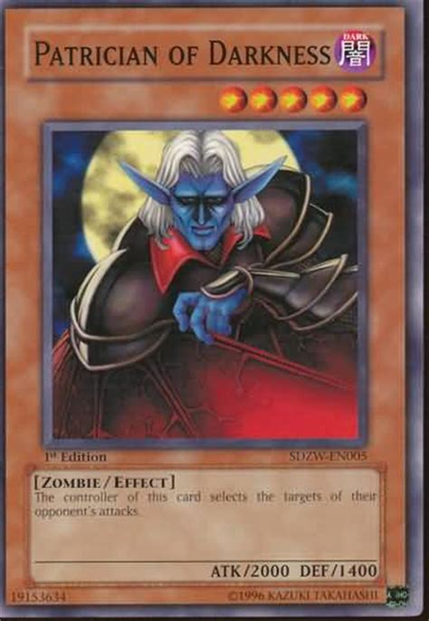 patrician of darkness yugioh structure deck zombie