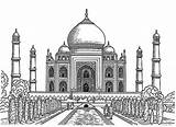 Mahal Taj Drawing Coloring Realistic Drawings Pages Colouring Netart Printable Sketch India Dibujo Easy Para Paris Arquitectura Plan Visitar Colorear sketch template