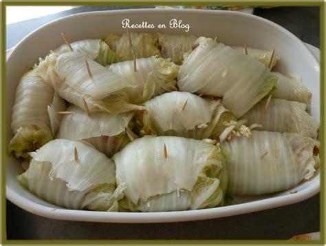 cuisiner du chou chinois chou chinois farci au chorizo recettes en