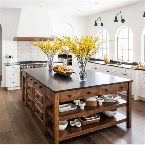 21+ Wondrous Kitchen Island Ideas Farmhouse