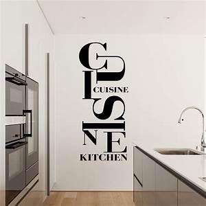 Stickers Muraux Cuisine : stickers texte cuisine sticker citation les rgles de la ~ Premium-room.com Idées de Décoration