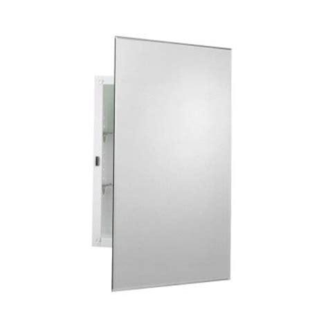 home depot medicine cabinet with mirror zenith 16 in x 24 in frameless mirrored swing door