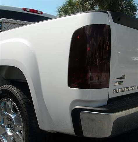 smoked headlights and tail lights gmc sierra 2007 14 recon smoked headlights tail lights