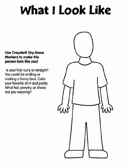 Coloring Pages Crayola Human Printouts Activities Parts