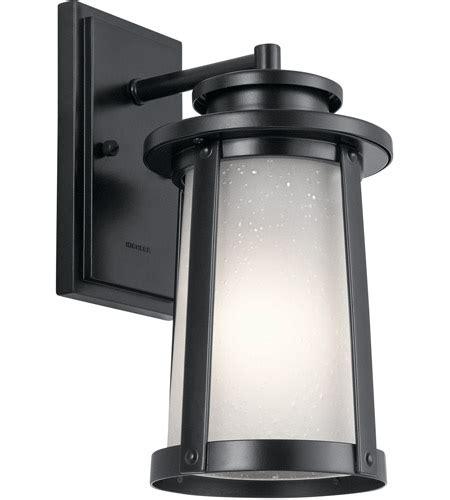 kichler 49917bk harbor bay 1 light 12 inch black outdoor
