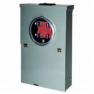 100a Load Center Main Breaker Outdoor Panel Meter 20 Circuit 10 Space Ring Type 785901328049