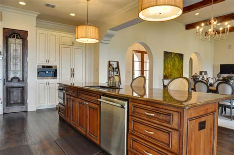 spanish colonial contemporary kitchen dallas  braswell homes