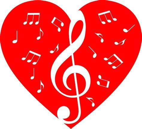 These free printable heart shape templates are available in a variety of styles and shapes for your this single heart has a stitched border and will print onto letter size paper or you can reduce the size. Clipart - Musical Heart 3