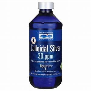 Trace Minerals Colloidal Silver 30 ppm 8 fl oz (237 mL ...