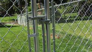 Install Chain Link Fence Gate Latch — Fence Ideas