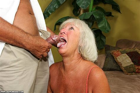 Lustful Granny In An Orange Top Gives Cool Titjob And A