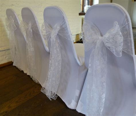 100 lace chair sash bow chair covers sashes bows tie