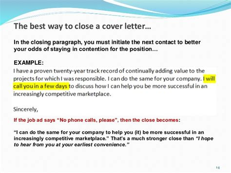 paragraph for a cover letter cover letter conclusion