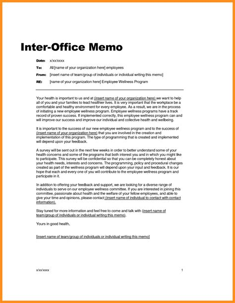 elegant memo template formal memorandum template