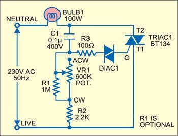 Light Dimmer That Doubles Voltmeter Full Circuit